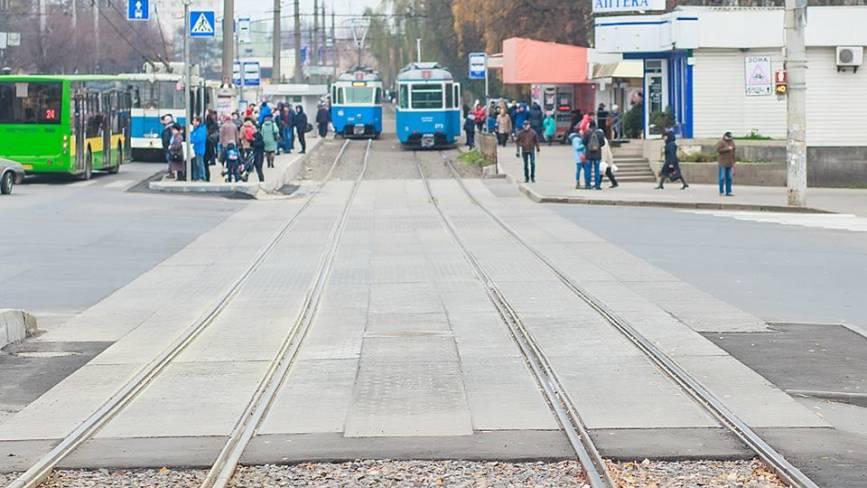 У місті цьогоріч відремонтували понад 2 кілометра трамвайних шляхів