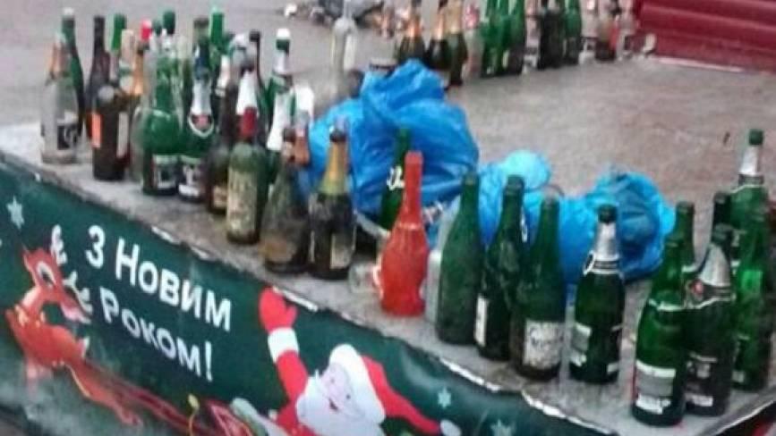 Що залишили після себе у центральному парку вінничани, які святкували Новий рік