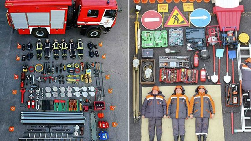 #TetrisChallenge по-вінницьки: місцеві пожежники та газовики взяли участь у міжнародному флешмобі
