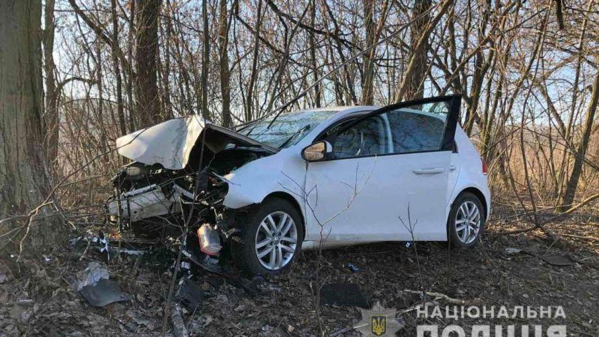 Смертельна ДТП: на Вінниччині водій Volkswagen врізався у дерево. Він не вижив