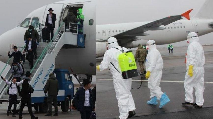 У Вінницю прибули два літака з Ізраїлю. Пасажирів зустрічали у захисних костюмах