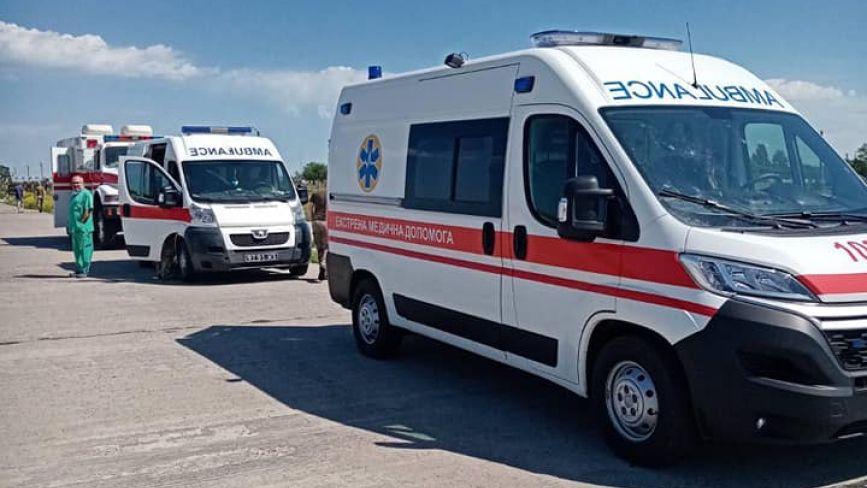 У вінницькій госпіталь прибув борт з пораненими військовослужбовцями