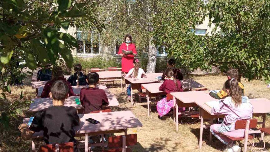 «Я не кажу: всі на двір!» У школі села Баланівка парти винесли у яблуневий сад