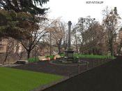 Сквер з чорним монументом відкриють до Дня Європи