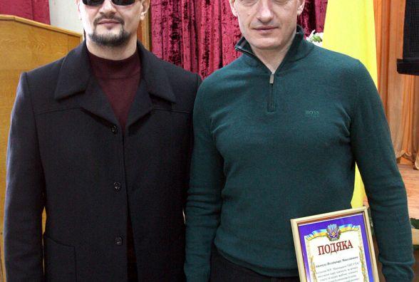В День сліпих працівники УТОСу подякували Володимиру Адамчуку за власне житло (прес-служба УТОС)