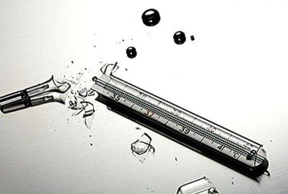 Віничани минулої доби розбили три ртутні термометри