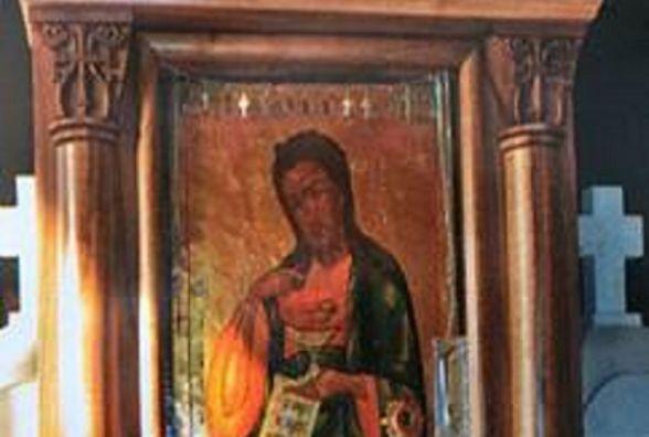 Із чоловічого монастиря вкрали старовинну ікону. Її знайшли неподалік у кучугурі