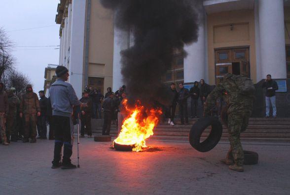 Перекрита Соборна та палаючі шини: як мітингувала Вінниця (ФОТОРЕПОРТАЖ)