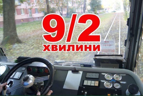 9/2 хвилини: Як виглядає маршрут трамваю №4 з кабіни водія (ВІДЕО)