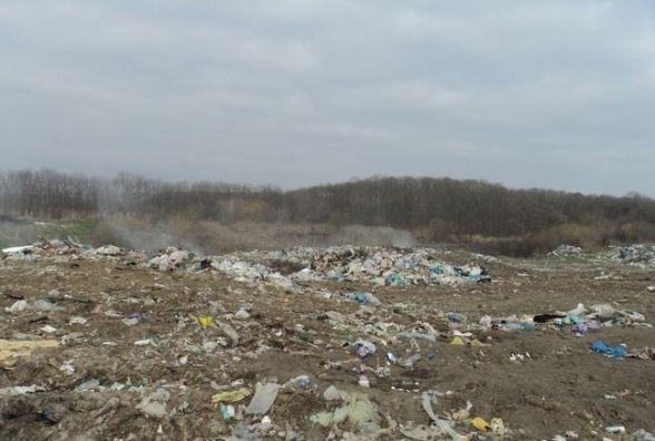 На Вінниччині горіло сміттєзвалище. Причину з'ясовують фахівці