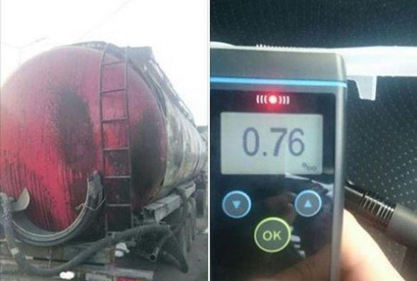 П'яний водій на фурі «Volvo» ледь не завіз у Вінницю небезпечний вантаж (ФОТО)