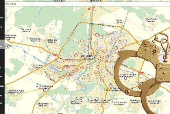 Кримінальна Вінниця: Інтерактивна карта, яка показує злочини по-сусідству