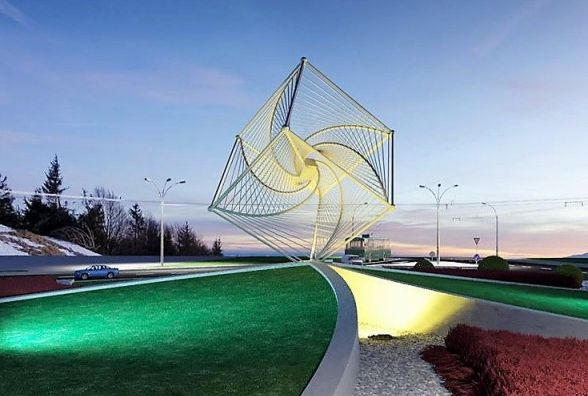 На Зулінського поставили куб-велетень за 1,7 мільйона гривень