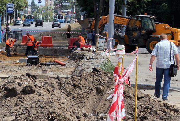 Вишенька без трамваїв: Перші дні реконструкції колій на Келецькій