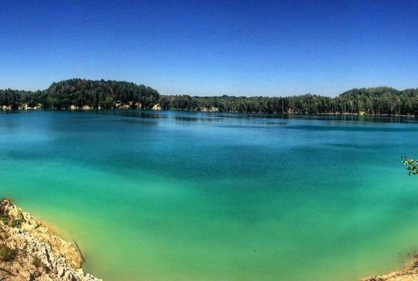 3D тур озером в Черепашинцях: блакитна вода та незвичний пейзаж