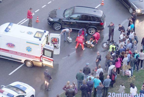 Подробиці аварії на Зодчих, в якій загинув байкер. Є відео