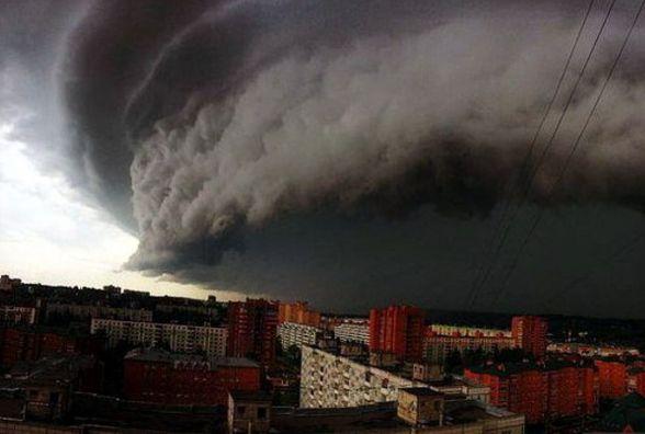На Україну суне потужний ураган з Румунії. Прогноз погоди на тиждень (КАРТА)