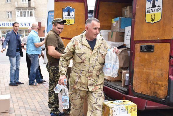 Три машини гуманітарної допомоги відправили вінничани в зону АТО