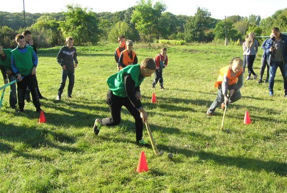 Член хокейної збірної України провів Олімпійський урок у селі Люлинці
