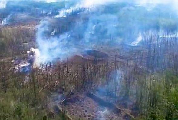 Кадри останніх вибухів у Калинівці з висоти пташиного польоту. ВІДЕО