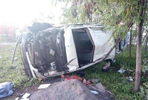 На Вінниччині перекинувся мікроавтобус. Загинув 45-річний пасажир
