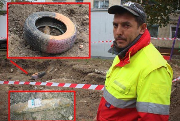 На Київській відкопали снаряд часів Другої світової. 16 годин його не можуть звідти забрати