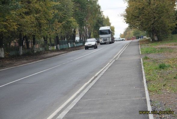 Відремонтували частину дороги біля Гайсина. Витратили більше 4 мільйонів