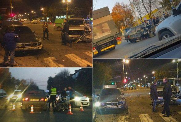 Три авто та мотоцикл: на Келецькій за добу сталося два ДТП на одному й тому ж місці