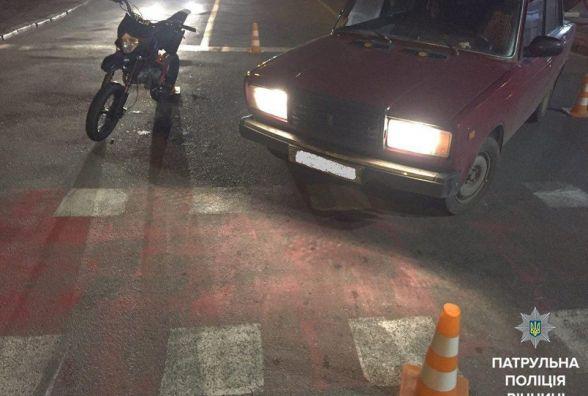 На Юності мотоцикліст відгамселив водія «сімки». Справу передали слідчим