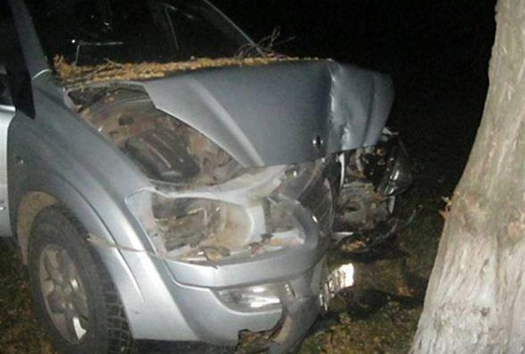 Позашляховик влупився в дерево. Таврія на «зебрі» збила вінничанина