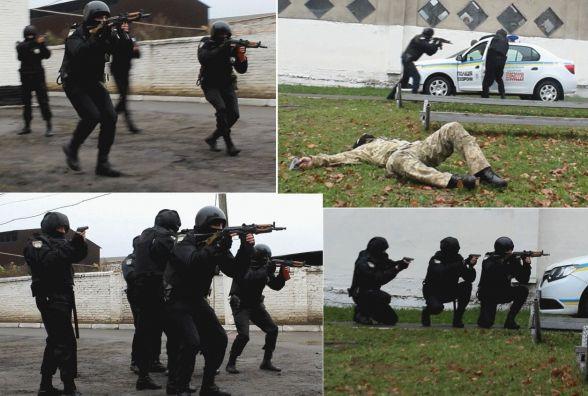 Курсанти поліції охорони показали, як уміють стріляти та штурмувати будівлі (ВІДЕО)
