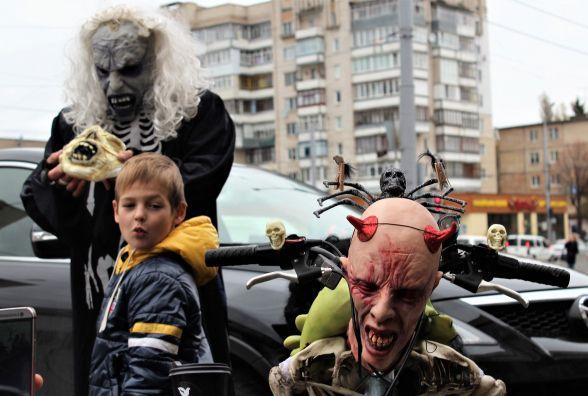 Вело Хелловін. «Чорти» на велосипедах їздили вулицями міста