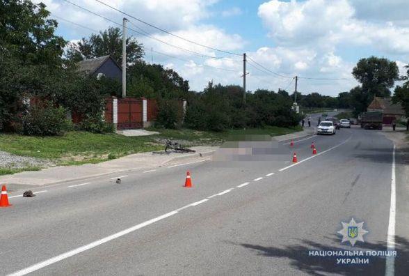 На Гайсинщині «КАМАЗ» збив велосипедиста. Потерпілий загинув
