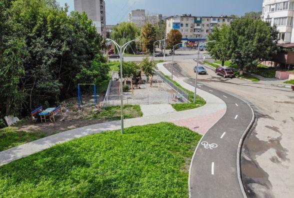 Сквер, дитячий майданчик та велодоріжка. На Тяжилові роблять нову зону відпочинку