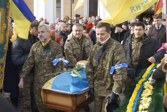 В Будинку Офіцерів прощались із загиблим «айдарівцем» Олександром Захарчуком