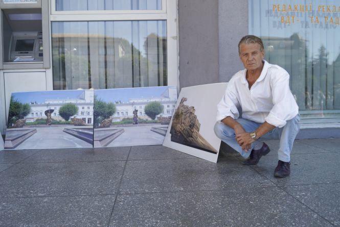 Вінницький скульптор розробив для «Парижа» макет вусатого Шевченка