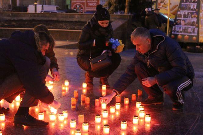 Молитвою та теплим словом вінничани вшанували пам'ять загиблих лицарів Небесної Сотні