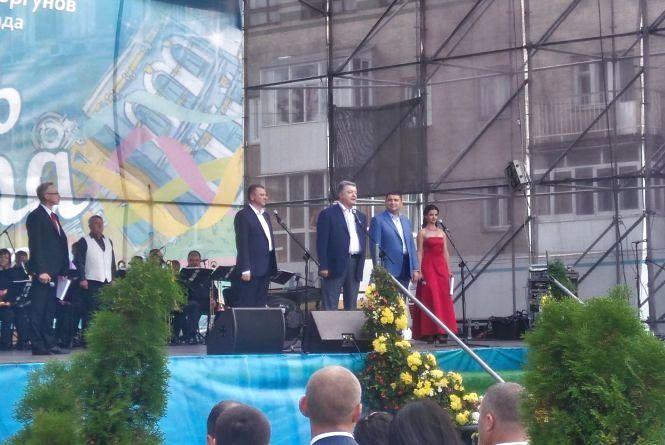На День міста у Вінницю приїхав Порошенко з Гройсманом. Що казали зі сцени?