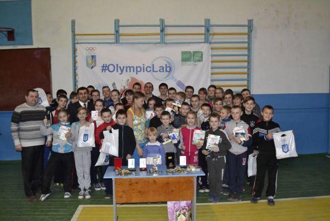 Переможниця юнацької Олімпіади Катерина Дерун провела «Олімпійський чат» в рідній школі на Вінниччині