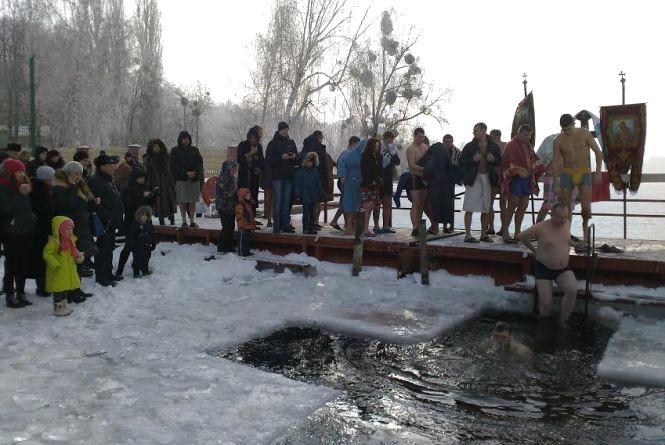 Як вінничани на Старому місті відсвяткували Водохреща (ФОТО)