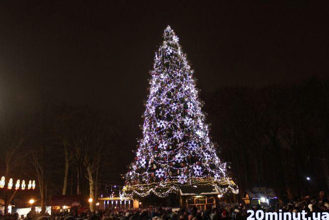 Як згасала новорічна ялинка: мороз, сотні вінничан та сексуальний столичний дует