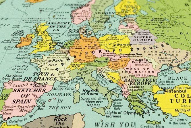 Створена карта, на якій Україну назвали «Відродженням нації»