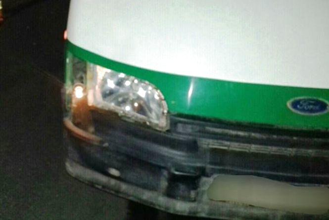 В Гайсині восьмирічний хлопчик вийшов з маршрутки та його збив Ford Transit (ФОТО)