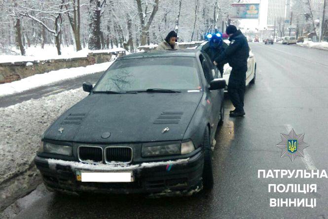У Вінниці минулої ночі патрульні виявили вісім водіїв, які були п'яні та «під кайфом»
