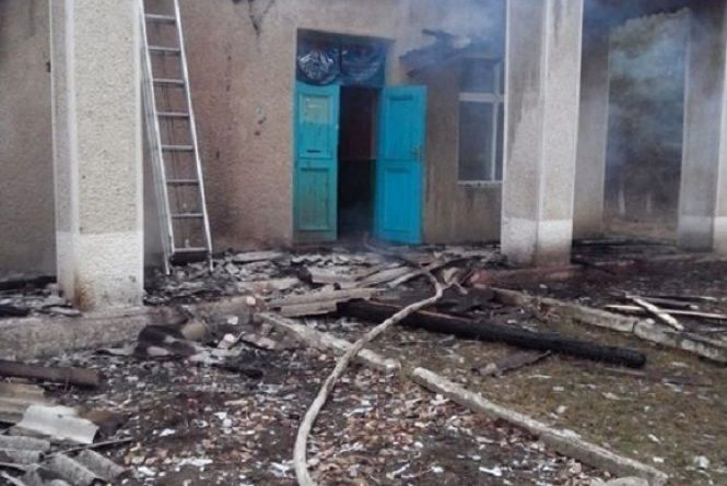 У Крижопільському районі під ранок згоріла одна із сільських рад. ФОТО