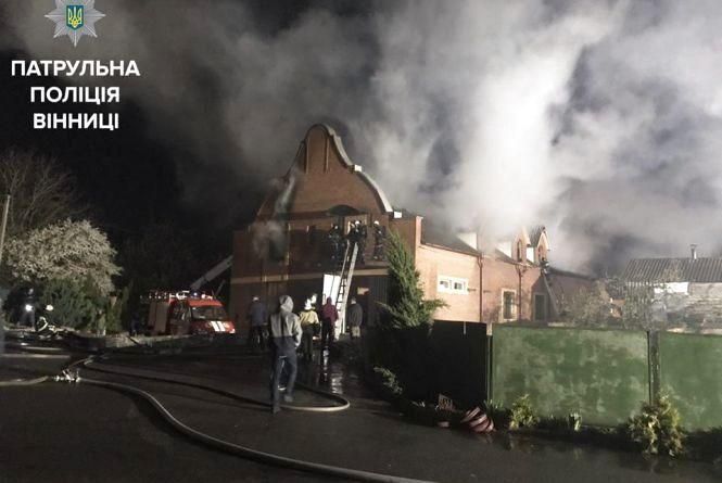 З'явилось відео масштабної пожежі «Дома молитви» в Вінниці