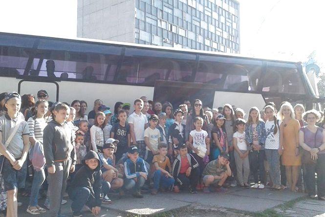 45 дітей вінницьких учасників АТО поїхали на відпочинок до Карпат