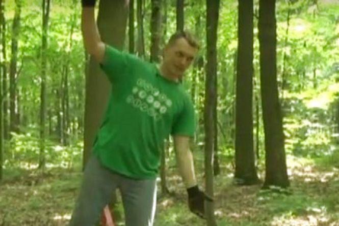 Переселенець із Луганська вчить вінничан «ходити по стропі» (ВІДЕО)