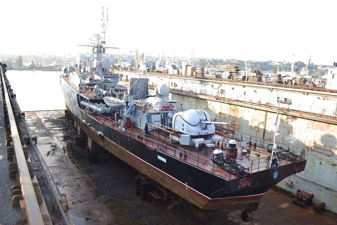 В Одесі почали ремонтувати корвет «Вінниця», який колись дислокувався в Криму
