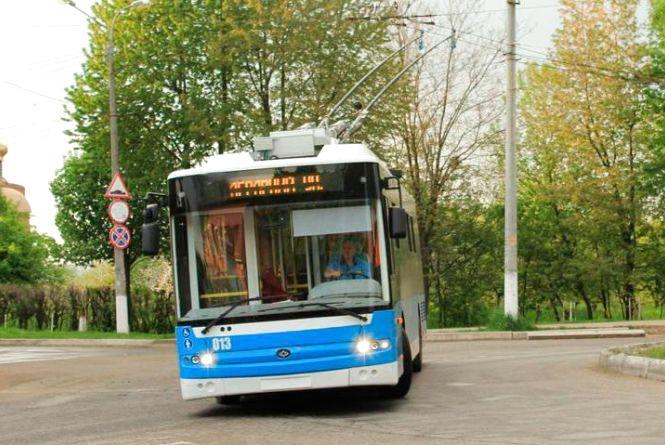 Рух тролейбусів за п'ятьма маршрутами призупинять на одну ніч
